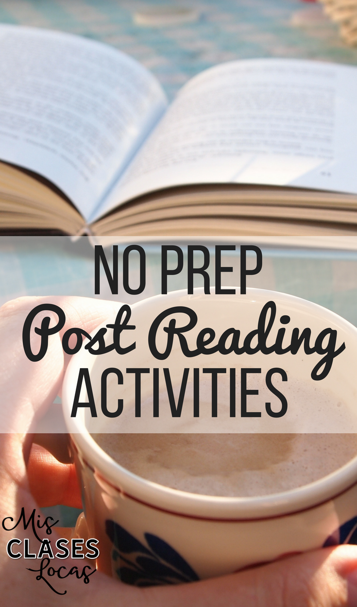 No Prep Post Reading Activities for any class