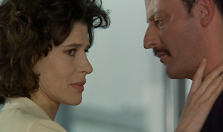 Fanny Ardant and Jean Reno in Beyond the Clouds