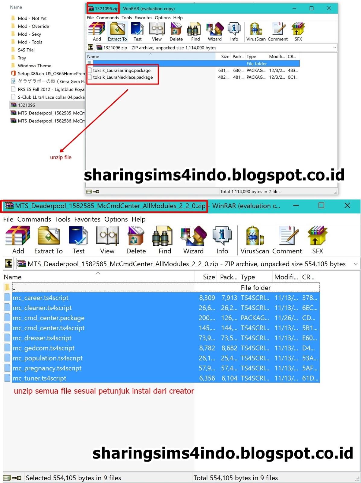 Cara Menginstal Mod dan CC Per Langkah | SharingSims4Indo