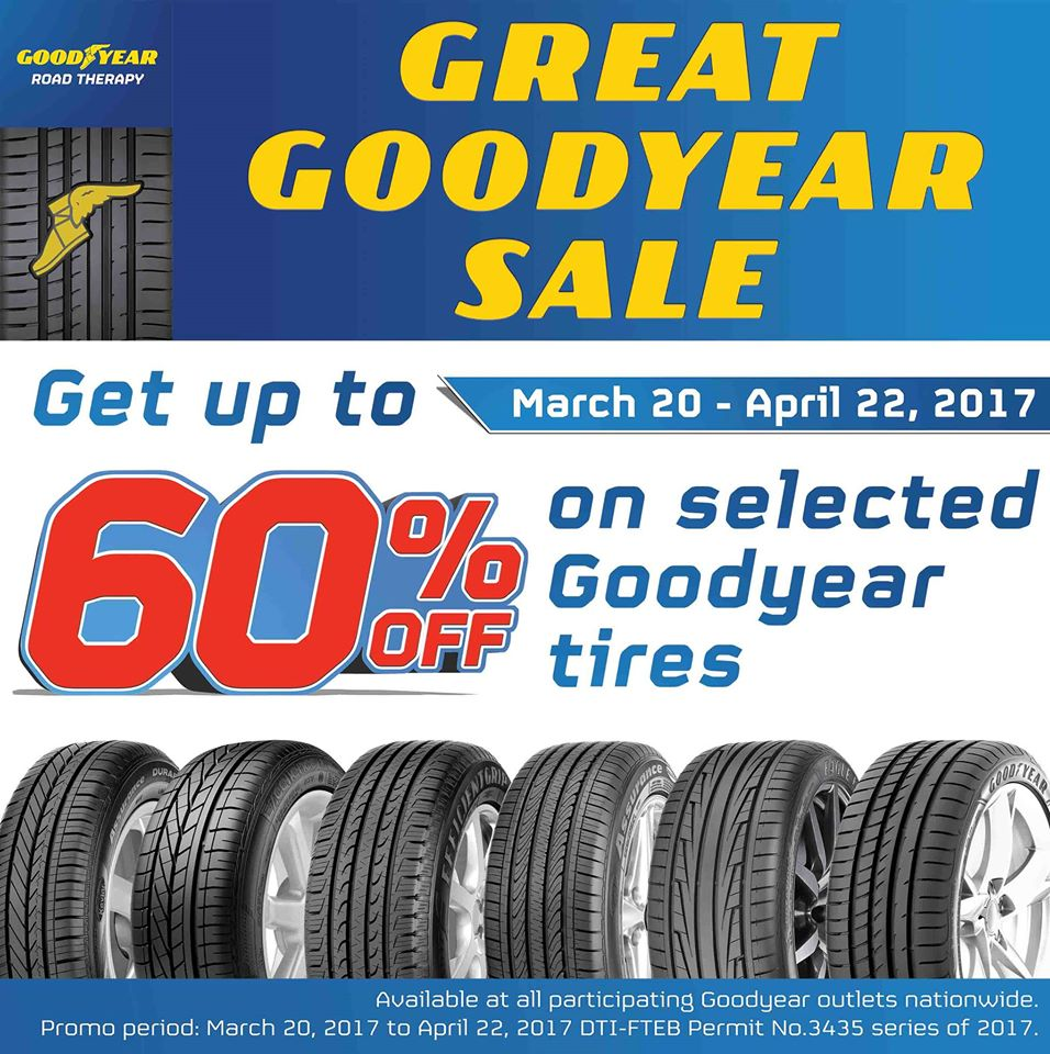 f5bbedaedad Make sure your ride is road trip-ready this summer! Check out The Great  GoodYear Sale happening until April 22