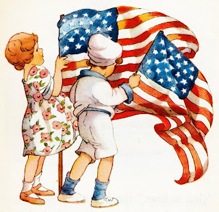 children with flag