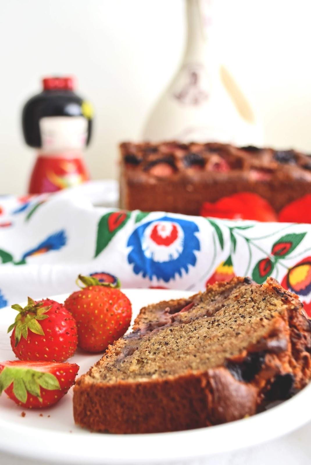 Truskawkowe ciasto bez glutenu