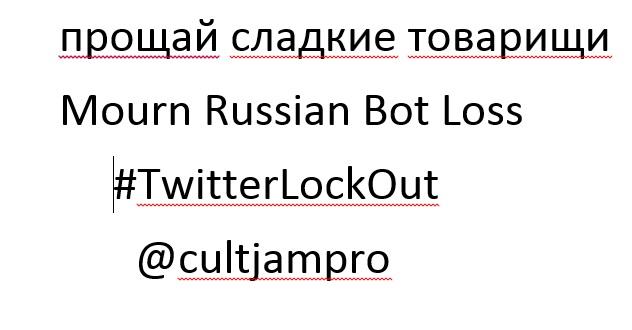 #TwitterLockOut Twitter Lockout Russian Bots MAGA