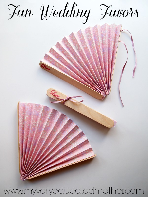 Diy Wedding Idea Fans To Keep Your Guests Comfortable