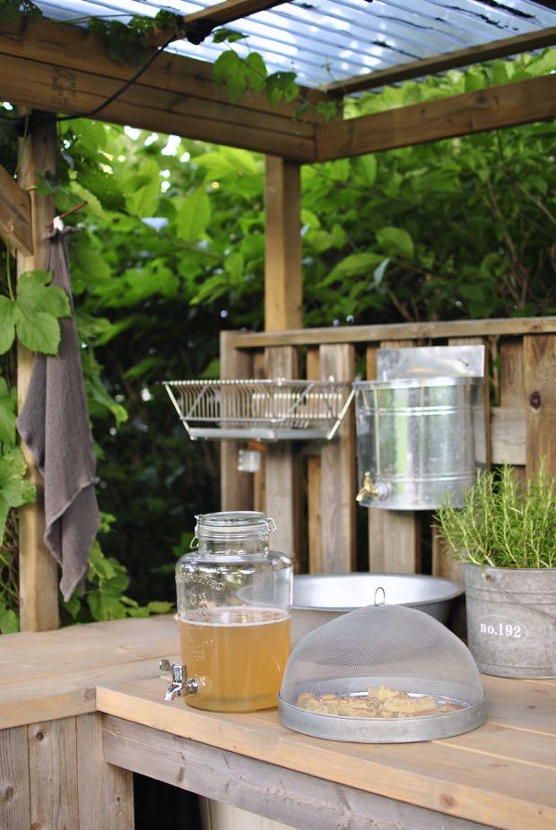 utekök outdoor kitchen trädgård hannashantverk.blogspot.se