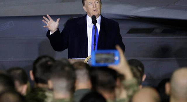 President Trump SURPRISES US Troops in Alaska While Returning from Vietnam