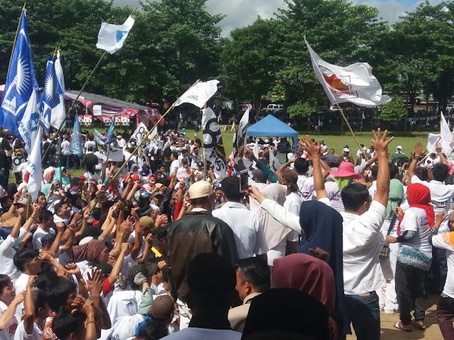 Ribuan Massa Dan Simpatisan Hadiri Kampanye Akbar Gun-Feb