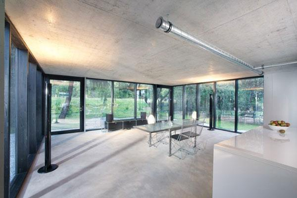 Small house design with glass walls home design - Interior glass wall designs for houses ...