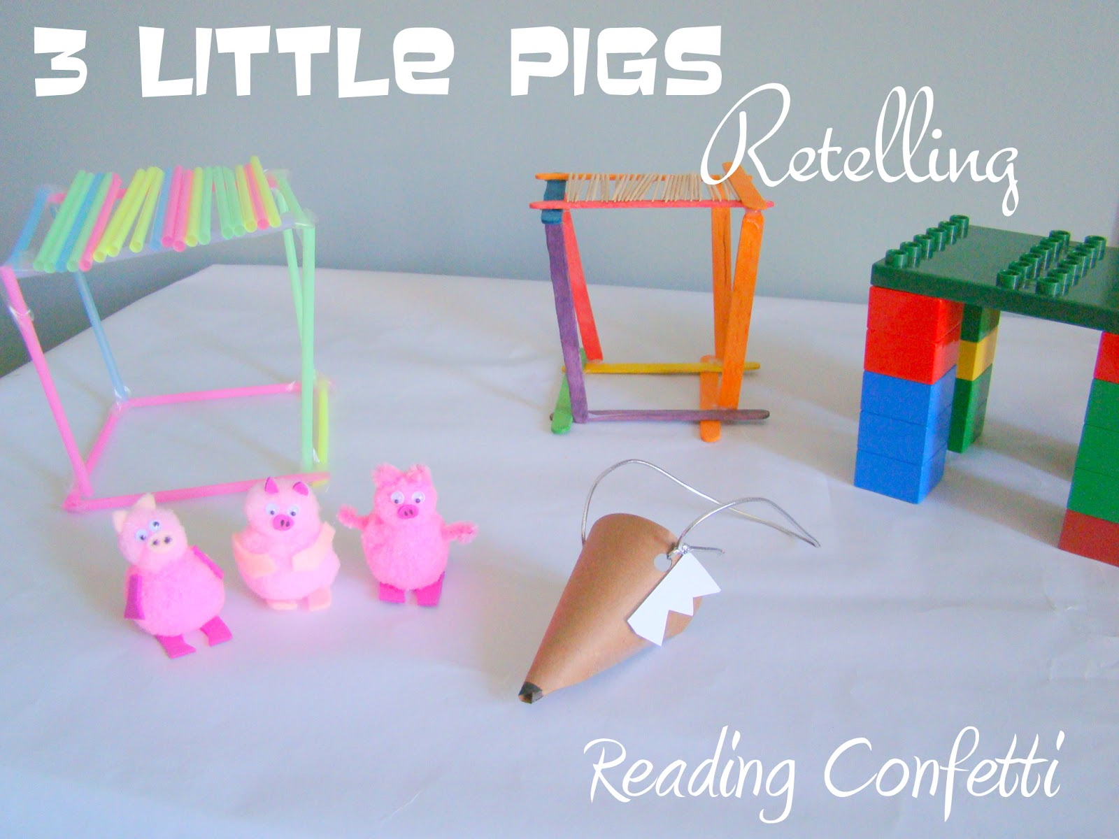 The 3 Little Pigs Retelling Reading Confetti
