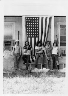 Members of JPT Scare Band & Friends at Cosmic Acres July 4, 1973