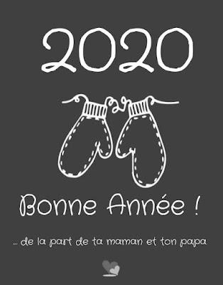 Carte virtuelle Bonne année 2020 de la part de maman et papa