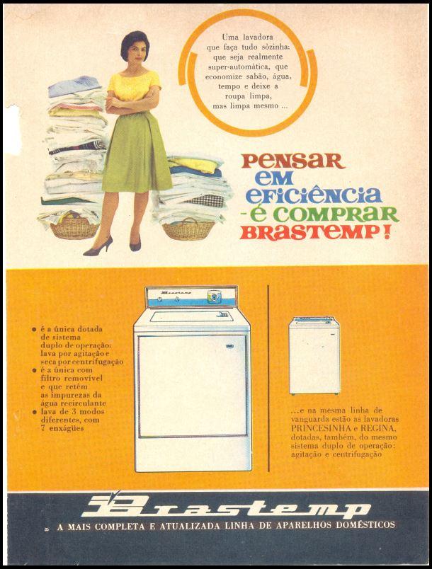 Campanha da Brastemp para promover sua lavadora automática no começo dos anos 60