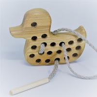 Lotes wooden toys, TT10, Threading Duck
