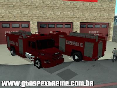 Scania 113h dos Bombeiros para GTA San Andreas