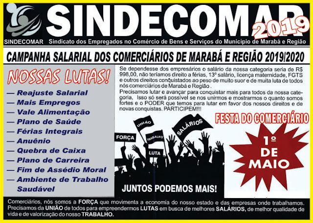 SINDECOMAR -  CAMPANHA SALARIAL DOS COMERCIÁRIOS DE MARABÁ E REGIÃO