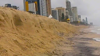 King Tides Wipe out Surfers Paradise Beach 2013