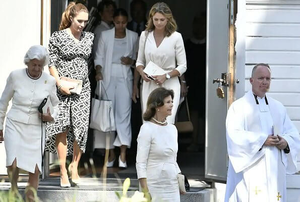 Queen Silvia and Princesss Madeleine attended Anki Wallenberg's funeral service