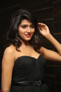 Shalu Chourasiya in spicy Sleeveless Strapless Black Top at O Pilla Nee Valla Movie Audio Launch Feb 2017 095.JPG