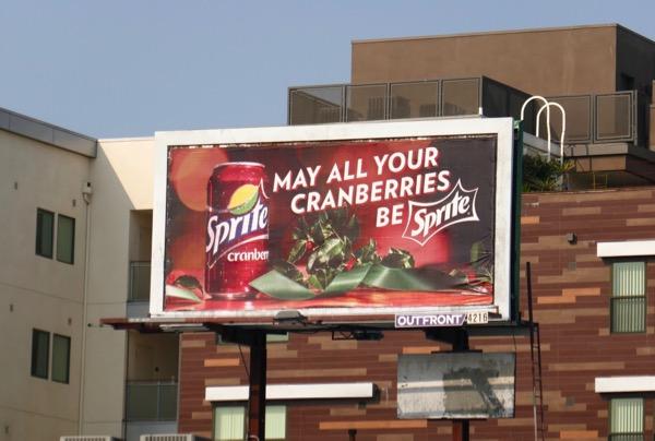 cranberries Sprite billboard