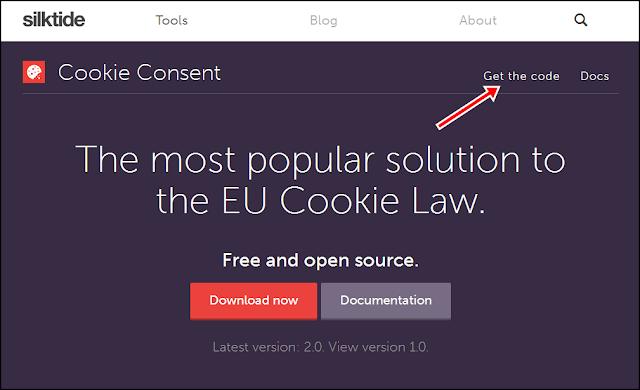 Cara Membuat Skrip / Kode untuk menampilkan peringatan / pemberitahuan Google Cookies