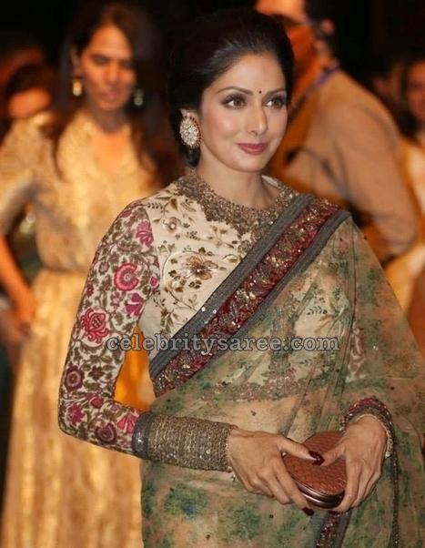 Sridevi Kapoor Rose Floral Blouse