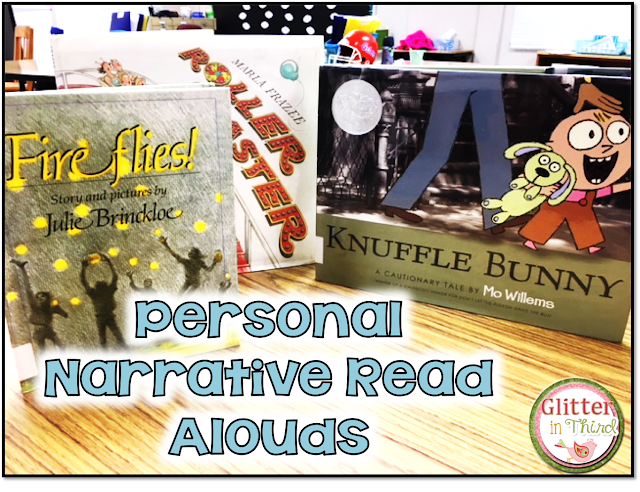 Not sure what books to grab for a personal narrative mentor text? Check out these read aloud suggestions for your next writing unit!