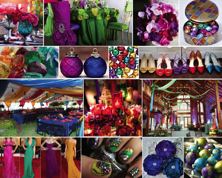 Ideas by andrea summer event color combinations part 3 - What are jewel tones ...