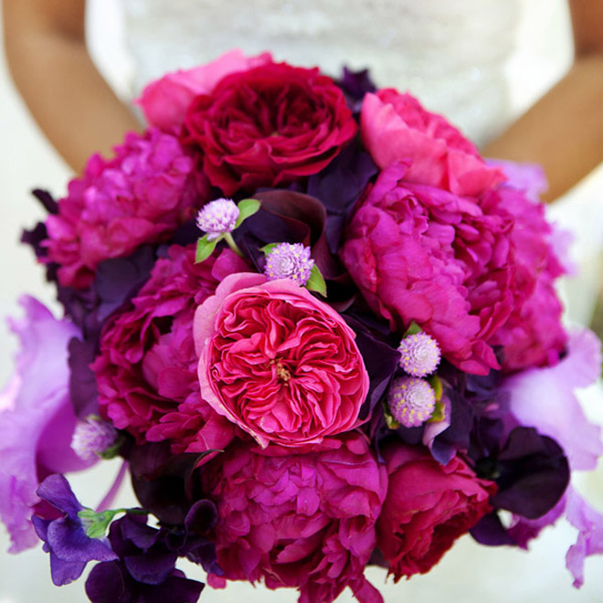 Purple And Pink Wedding Flowers: 25 Stunning Wedding Bouquets