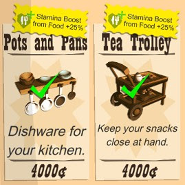 Buy Furnitures that Boosts Food Stamina