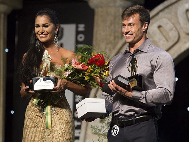 Juliete de Pieri e Rafael Ferreira, vencedores do Arnold Model Search 2016. Foto: Divulgação