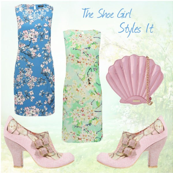 Polyvore outfit set containing Irregular Choice shoes and floral dresses