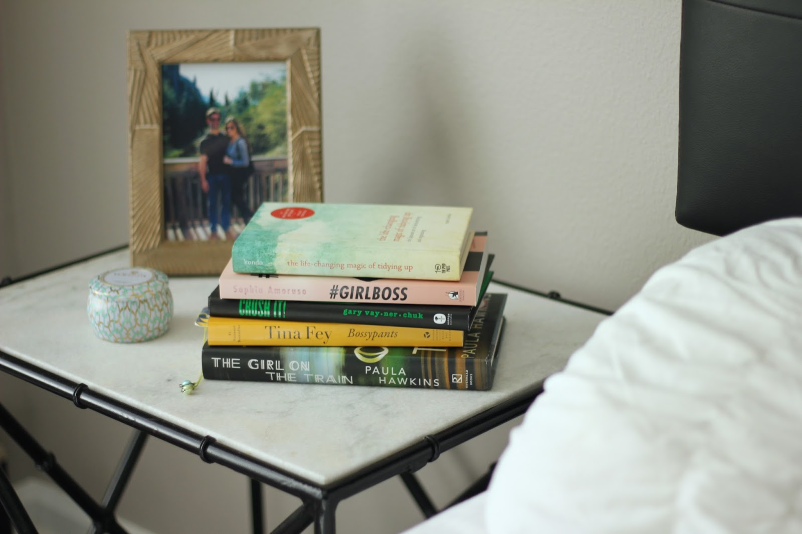 The Books That Every Girl Should Have On Her Nightstand - Bossypants, #Girlboss, The Girl on the Train, Crush it!, The Life-Changing Magic Of Tidying Up