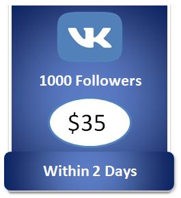 1000 buy Vkontakte Followers