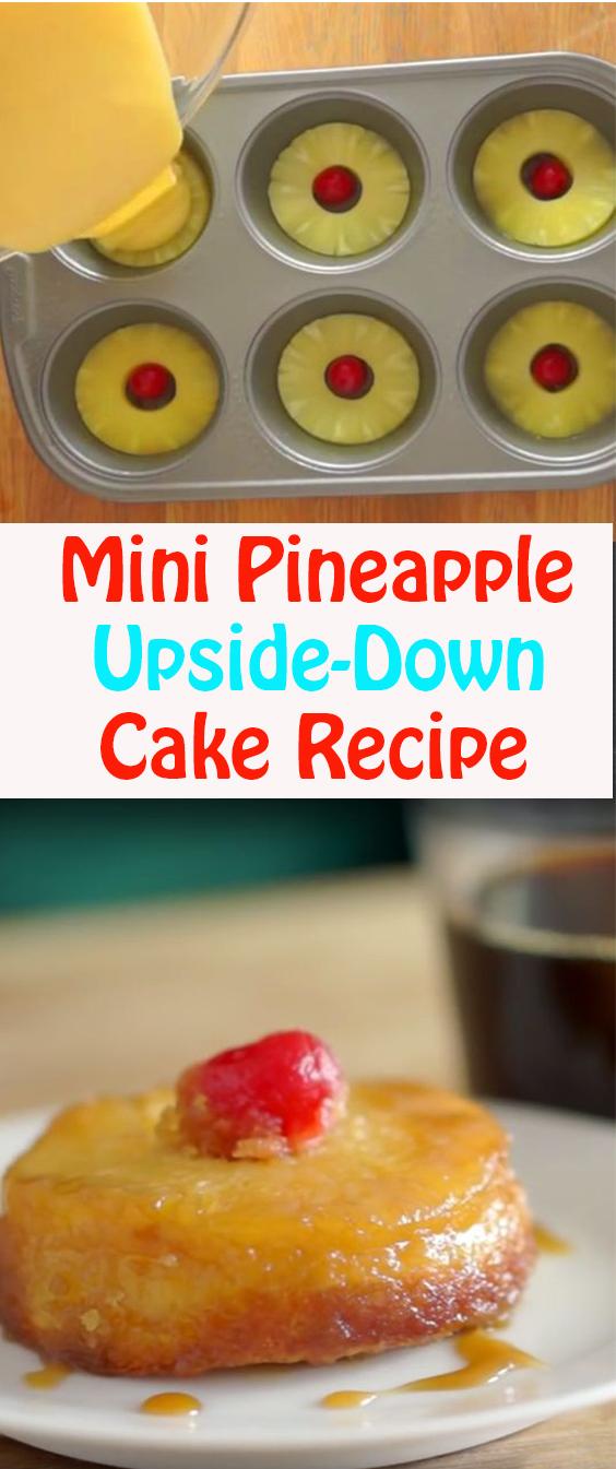 Mini Pineapple Upside-Down Cake Recipe