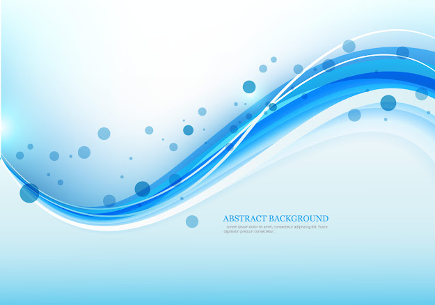 Blue Colored Wave On Abstract Background