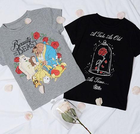 camisetas la Bella y la Bestia Primark