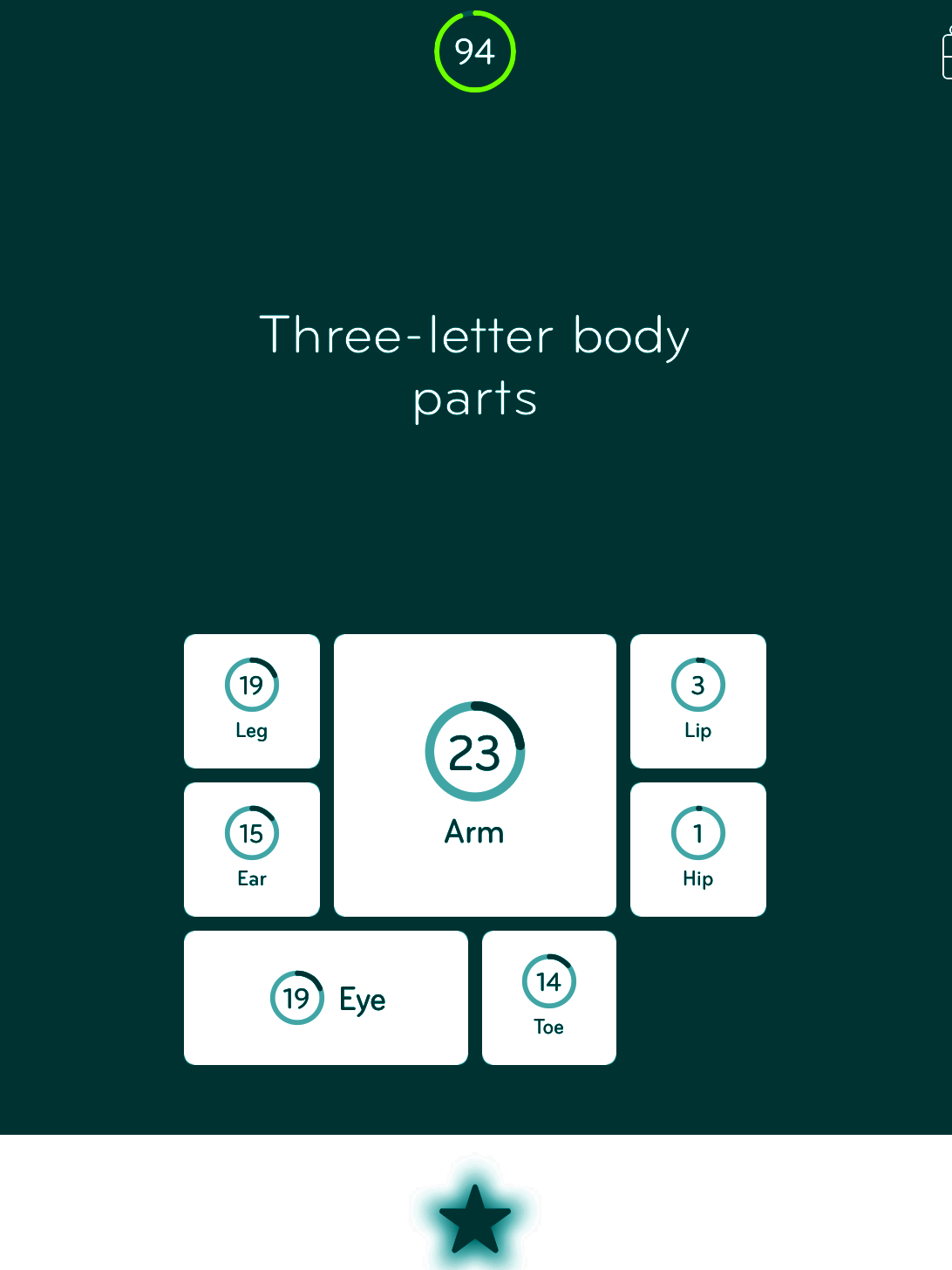 body parts with 3 letters appsandanswers 94 level 147 answers 20662 | IMG 1481