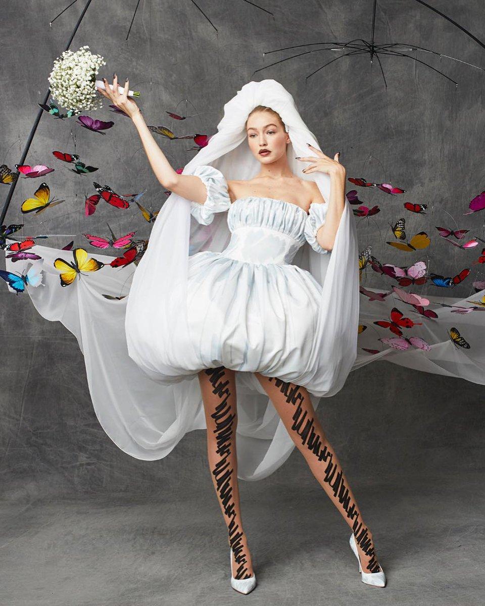 Gigi Hadid Moschino Bride Milan Spring 2019
