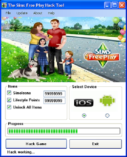 the sims free play cheats & hack
