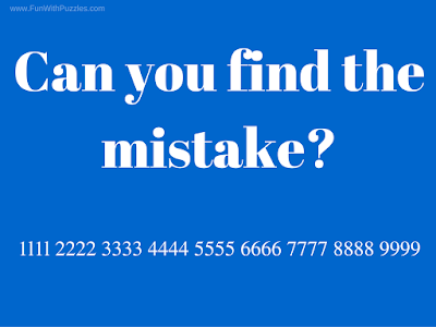 Tough riddle to Find the mistake in picture
