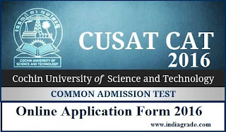 CUSAT CAT 2015 Application Form