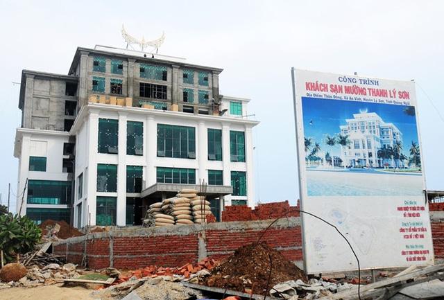 Khách sạn Mường Thanh đang thi công tại Lý Sơn