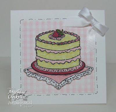 "ODBD ""Cake Single"", ""Gingham Background"", ""Birthday Blessings"" Designer Angie Crockett"
