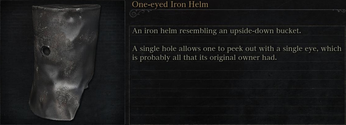 One-eyed Iron Helm