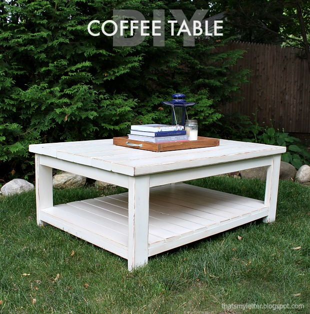 That 39 s my letter habitat coffee table free plans for Coffee tables habitat
