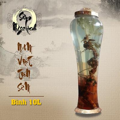Hình ảnh bình ngâm rượu sâm Ngọc Linh tại Onplaza