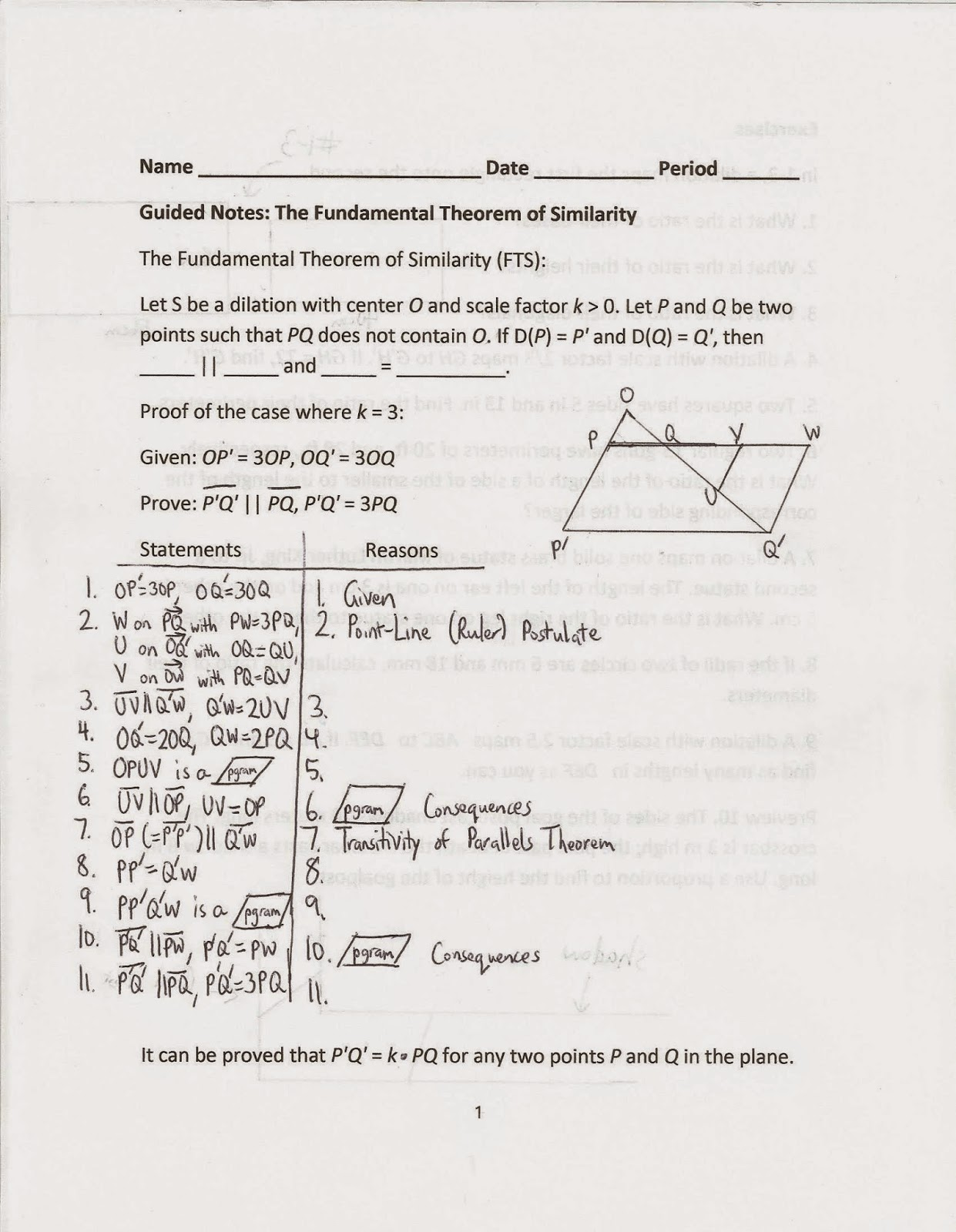 Geometry Common Core Style Section 12 6 The Fundamental