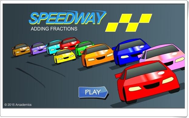 """""""Speedway"""" (Juego de suma de fracciones)"""