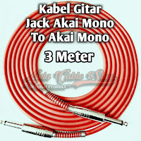 kabel gitar 3 meter jack akai mono to akai mono kabel technica javejuan