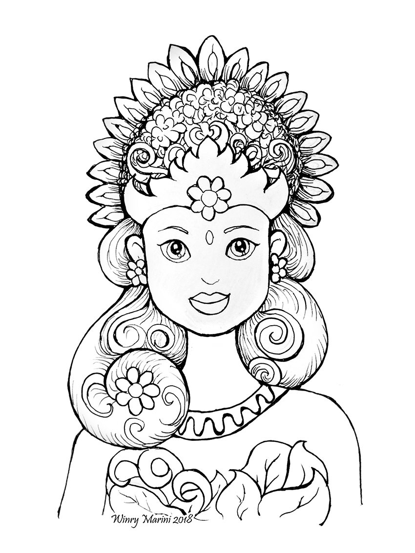 indonesian coloring pages - photo#5